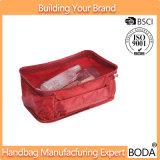 Tipo simple bolso cosmético del totalizador del almacenaje de nylon del recorrido (BDY-1710083)