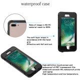 iPhone를 위한 지문 덮개 부대를 가진 급강하 수중 전화 상자 내진성 방수 PC TPU 기갑 덮개 케이스 더하기 7 7