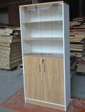 オフィスの本箱の木の2つのドアのオフィス5層の棚の本箱