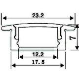 Protuberancia de aluminio del canal del perfil de la tira del LED para la tira del LED