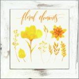 Stampa moderna Charming della tela di canapa del fiore con il blocco per grafici nel bianco della lavata