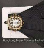 De recentste Broche van het Bergkristal van de Hoogste Kwaliteit van de Manier voor de Broche van Bowknot van de Band van de Zijde van het Kostuum van Vrouwen (cb-03)