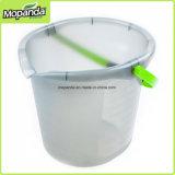 Конструкция прозрачного ведра классицистическая для легкой домашней чистки