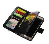 Caisse noire de téléphone mobile de cuir de couleur