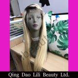 Parrucca piena brasiliana del merletto dei capelli umani del Blonde 100% di Lilibeauty 1b/613 diritto per il nero