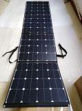 200W SunpowerのFoldable適用範囲が広く柔らかい伸縮性がある携帯用太陽携帯電話力パネルの充電器