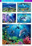 Azulejos esmaltados pared hermosa hermosa del fondo 3D (VPA6A309)