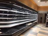 Refrigerador abierto de la visualización del ahorro de la energía con 90 grados de esquina