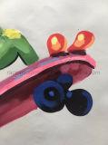 Pintura a óleo moderna animal da decoração da parede da sala de visitas na arte da lona