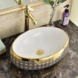 Het sanitaire Bassin van de Was van de Kunst van het Porselein van het Overdrukplaatje van Waren voor Toilet (C1198A)