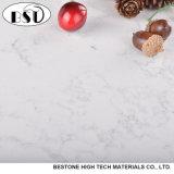 Bancada artificial da pedra de quartzo da cor branca de Carrara