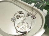 Белый цвет дерева форму сс долго ожерелье в меди с золотым покрытием белого цвета для женщин вечерние платья
