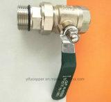 Válvula de bronze da água do retorno da fêmea da válvula de esfera