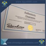 Design personalizado papel da marca de impressão do certificado de segurança