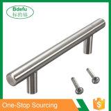 Современные атласный никель ручки из нержавеющей стали для шкафов, шкафов и ящиков - T-бар подает