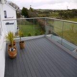 Carril de cristal del zapato de U de la barandilla de cristal baja del canal U para la terraza de la cubierta