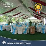 Tenda bianca di lusso esterna della festa nuziale