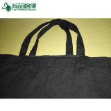 Commerce de gros 100% coton un sac de shopping personnalisé Calico sac fourre-tout noir
