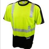 T-shirt uniforme de sécurité routière de visibilité de vêtements de travail r3fléchissants élevés de pistes