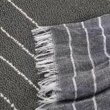 Promo-horizontaler gesponnener Streifen-Baumwollschal 100% (Hz211)