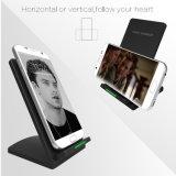 チーの速い無線充電器QC 2.0は速くiPhoneのためのドックの立場ベース充電器を8 10 X Samsung S6 S7 S8 Note5 Xiaomi満たす