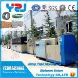 Poliéster dos PP da aplicação da folha das máquinas do recicl Waste da extrusora que prende com correias a maquinaria da faixa