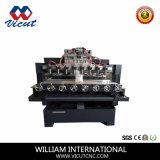 машина маршрутизатора CNC движения таблицы 3D множественная роторная деревянная