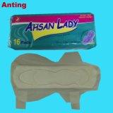 Coton OEM PRIX D'USINE Serviette hygiénique sanitaires jetables Pad pour dame utiliser film perforé ou couverture de coton