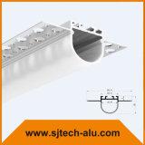 Profilo di alluminio messo con la flangia lunga per il muro a secco o soffitto Using