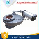 Válvula de giro metálica pneumática