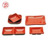 Exporteur-ungewöhnlicher Porzellan-Melamin-Tafelgeschirr-Soße-Teller für das Eintauchen