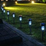 Lampada solare bianca di vendita calda dell'indicatore luminoso solare LED del giardino dell'acciaio inossidabile 2017 per uso esterno del giardino