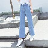 Signora allentata e nuova Jeans di modo con l'apertura speciale del piedino (HDLJ0032-17)