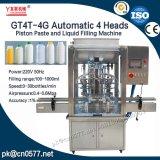 4 têtes automatique automatique de miel liquide purifié de l'eau potable Eau minérale plafonnement de l'de remplissage de la machine à laver (GT4T-4G1000)