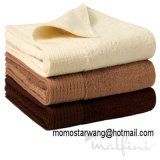 Tovaglioli di bagno cotone/del bambù con i colori solidi