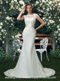 Reizend Spitze-Hochzeits-Kleid-Nixe-Kleid-Trompete-Chiffon- Brautkleid