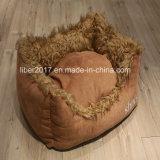 دافئ ليّنة كلب قطان داعب [سفا بد] صوف سرير مع حصير محبوب شريكات