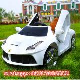 Conduite modèle de gosses de jouets d'enfants de R/C Ferrari sur le véhicule