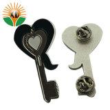 Custom clé en métal de la broche et une épinglette en forme de coeur (BD-01)
