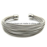 Gold Stainless Steel Wire Cable Chain Bangle Bracelet for Women