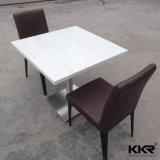 レストランの家具のカスタムサイズの固体表面のテーブルの上(171121)
