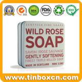 квадратная коробка олова мыла 3.5oz/100g для коробок подарка металла упаковывая