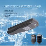 Las delicias de la iluminación integrada de 40W en una sola calle luz LED Solar