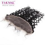 Yvonne Virgem malaio de cabelo humano Pre-Plucked Lace Ondulação Italiano Frontal 13,5*4 com o cabelo do bebé