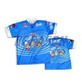 L'impression de transfert de chaleur en polyester de gros de la conception personnalisée de chemises de pêche