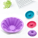 Moulage de traitement au four de gâteau de forme de fleur de silicones de catégorie comestible, moulage de gâteau