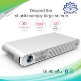 Mini portátil multimedia WiFi LED inteligente Pocket proyector DLP Proyector Digital 1080P para Negocios, Educación, juegos, cine en casa 3D