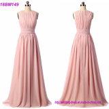 Reales BeispielChiffon- kundenspezifisches langes Brautjunfer-Kleid