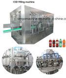 O gás contem linha de produção Carbonated da maquinaria de enchimento da bebida da bebida da bebida para o frasco de vidro de frasco do animal de estimação