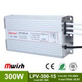 300W DC15V IP65 Ledpower Zubehör-Fahrer (MWISH LPV-300-15)